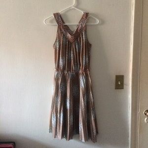 Vintage Sheer Raw Hem Dress Floral